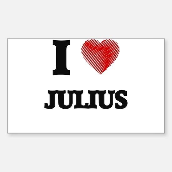 I love Julius Decal