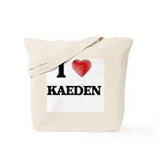 I love Kaeden Tote Bag