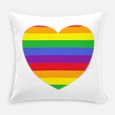 Rainbow Valentine Everyday Pillow
