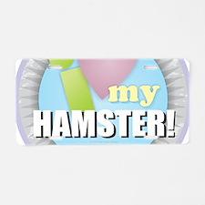 I Love My Hamster Aluminum License Plate
