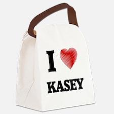 I love Kasey Canvas Lunch Bag