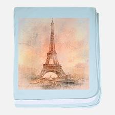Vintage Paris baby blanket