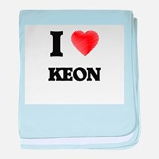 I love Keon baby blanket