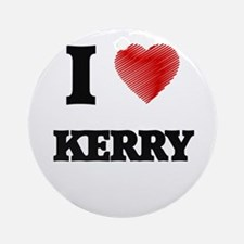 I love Kerry Round Ornament