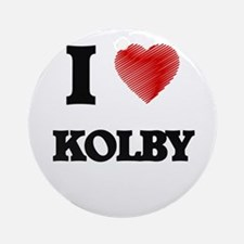 I love Kolby Round Ornament