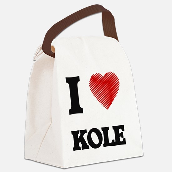 I love Kole Canvas Lunch Bag