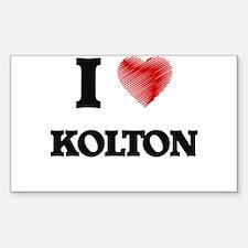 I love Kolton Decal