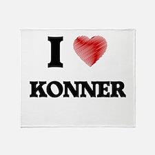 I love Konner Throw Blanket