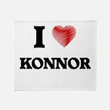 I love Konnor Throw Blanket