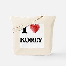 I love Korey Tote Bag