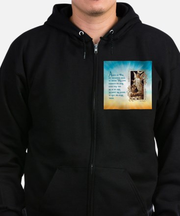 Angel of God (Day) Zip Hoodie (dark)