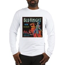 Blu Knight Vintage Crate Labe Long Sleeve T-Shirt