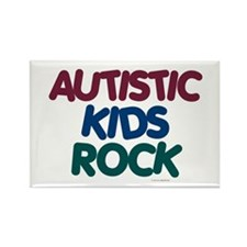 Autistic Kids Rock 1 (Muted Jewel) Rectangle Magne