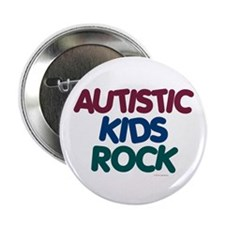 "Autistic Kids Rock 1 (Muted Jewel) 2.25"" Button (1"