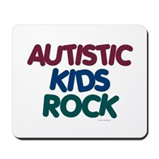 Autistic Kids Rock 1 (Muted Jewel) Mousepad