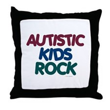 Autistic Kids Rock 1 (Muted Jewel) Throw Pillow