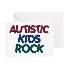 Autistic Kids Rock 1 (Muted Jewel) Greeting Card