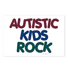 Autistic Kids Rock 1 (Muted Jewel) Postcards (Pack