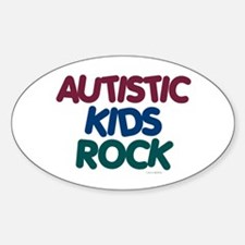 Autistic Kids Rock 1 (Muted Jewel) Oval Decal