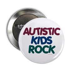 Autistic Kids Rock 1 (Muted Jewel) Button