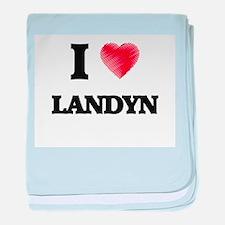 I love Landyn baby blanket