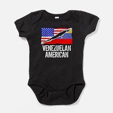 Venezuelan American Flag Baby Bodysuit