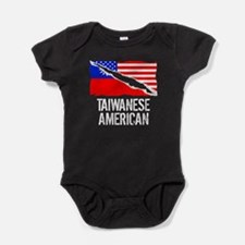 Taiwanese American Flag Baby Bodysuit