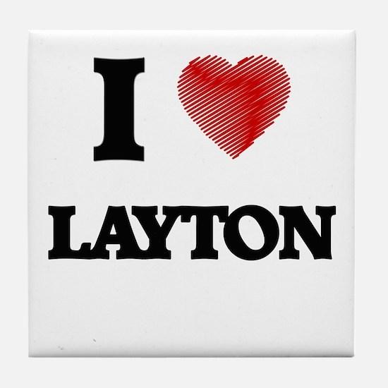 I love Layton Tile Coaster