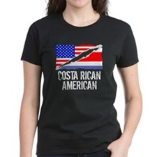 Costa Rican American Flag T-Shirt
