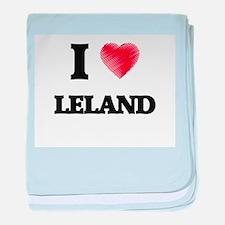 I love Leland baby blanket