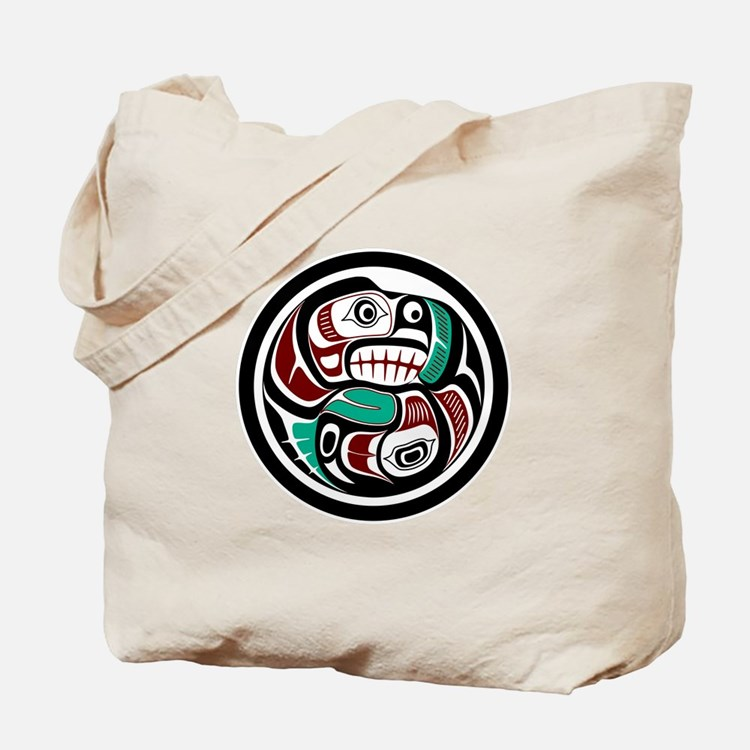 Northwest Pacific coast Otter chasing Salmon Tote