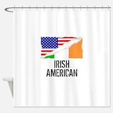 Irish American Flag Shower Curtain