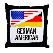 German American Flag Throw Pillow