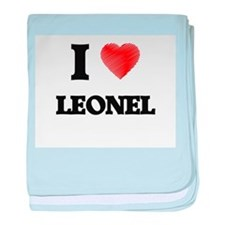 I love Leonel baby blanket