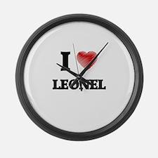 I love Leonel Large Wall Clock