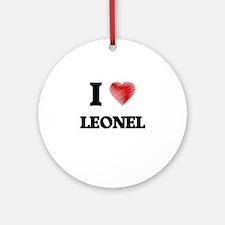 I love Leonel Round Ornament