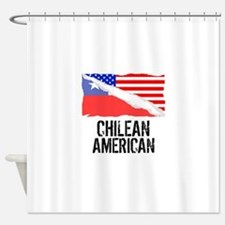 Chilean American Flag Shower Curtain
