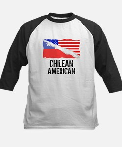 Chilean American Flag Baseball Jersey