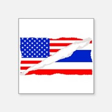 Thai American Flag Sticker