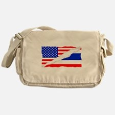 Thai American Flag Messenger Bag