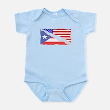 Puerto Rican American Flag Body Suit