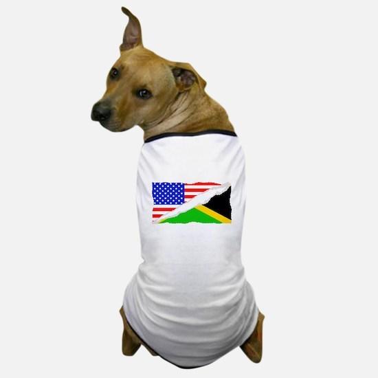 Jamaican American Flag Dog T-Shirt