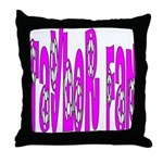 Taylor fan Throw Pillow