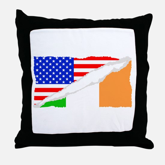 Irish American Flag Throw Pillow