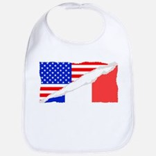 French American Flag Bib