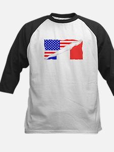 French American Flag Baseball Jersey