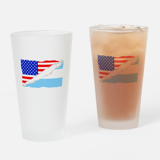 Argentinian American Flag Drinking Glass