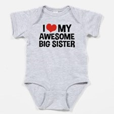 Funny I love my big sister Baby Bodysuit