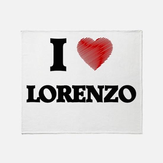 I love Lorenzo Throw Blanket