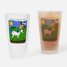 Some Days You're The Unicorn Drinking Glass
